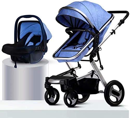 Cochecito para bebés para recién nacido, camioneta de viaje para el recién nacido bebé niño pequeño, el cochecito de bebé de alto paisaje puede sentarse con el amortiguador de cuatro ruedas y el coche