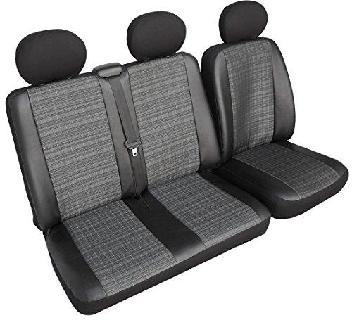 Rimers Autositzbezüge Sitzbezüge maßgefertigte Bus in Kunstleder-Prime (Fahrersitz + 2er Beifahrersitzbank) Schonbezüge