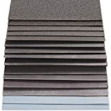 S&R Carta vetrata Abrasiva Impermeabile per Legno e Metalli 60pz. Grana: 80/120/ 150/180/ 240/320/ 400/600/ 800/1000/ 1200/1500/ 2000/2500/ 3000