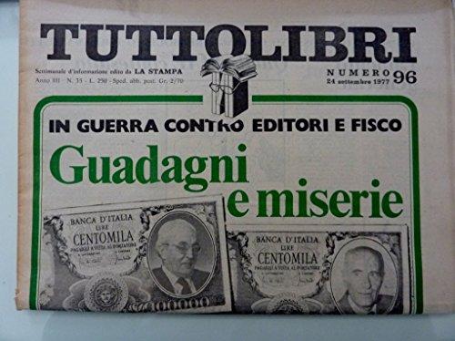 TUTTOLIBRI Settimanale d'Informazione edito da LA STAMPA Numero 96 24 Settembre 1977