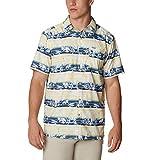 Columbia Camisa de Campamento de Marea súper Holgada para Hombre, Hombre, Super Slack Tide - Camiseta de Campamento, 1653761, Sun Glow Ombre Fish Stripe, XXL