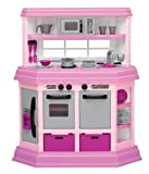 Pink Assembled Toddler Kitchen with 22 Accessories by American Plastic Toys
