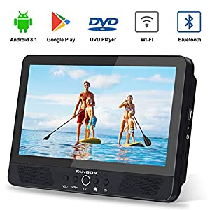 Android Tablet/Portable DVD Player for Car, Quad-Core 1.3GHz with 16GB Storage, Support HDMI Out, USB & SD Card Reader, Built-in Rechargeable Battery, Last Memory, Regions Free