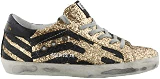 Golden Goose Superstar Sneakers Gold/Glitter Flag Women G33WS590.H70