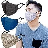 Super Fancy Mask Pack of 3 Face Mask Men Women & Teens Mask 100% Cotton Mask with Adjustable Ear Loop Reusable Washable Cloth Mask