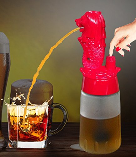 BARRAID Singapore Lion Liquor/Whisky/Wine/Vodka Dispenser/Decanter Battery Operated for Bar/Pubs/Party/Home Bar (Capacity 500 ml)