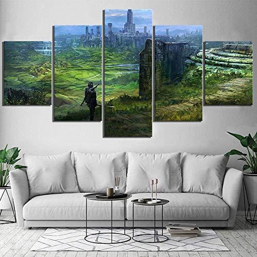 WLKJ Impresiones en Lienzo 5 Piezas The Elder Scrolls IV Oblivion Video Poster Artwork Concept Art Canvas Pinturas Arte de la Pared para la decoración del hogar