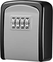 [New Version] KeeKit Key Lock Box with 4 Digit Combination, Resettable Code Key Storage Lock Box, Wall Mounted Key Safe Box Waterproof, 5 Key Capacity for Car, Home, Warehouse, Office, Indoor, Outdoor