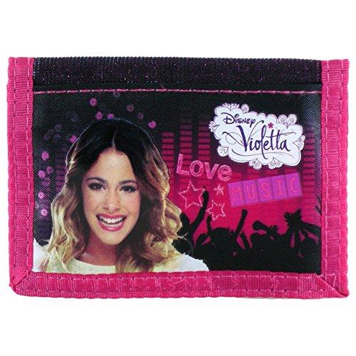 Disney Violetta GELDBÖRSE Geldbeutel PORTMONEE Tasche Portemonnaie + Sticker von kids4shop