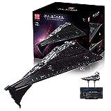 Technic Star Destroyer Model, 10368+ Pcs Nave Espacial Star Destroyer Bricks Model, DIY Building Blocks Modelo De Nave Espacial Grande Compatible Con Lego A,116 * 46 * 73cm