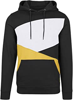 Winter Men's Simple Splice Cap with Long Sleeve Sweater Tops Blouse
