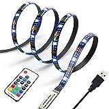 Diyife 2 Meter 60 Leds Retroiluminación De TV 5050 RGB Bias Lluminación para HDTV De 40-60 Pulgadas, USB LED Rayas Multi Color...
