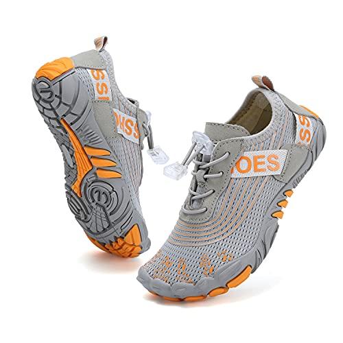 VTASQ Zapatos de Agua Playa niño de Verano Secado Rápido Respirable Surf Snorkel Yoga Piscina Zapatos Descalzos Calzado para Deportes acuáticos r Gris 27EU