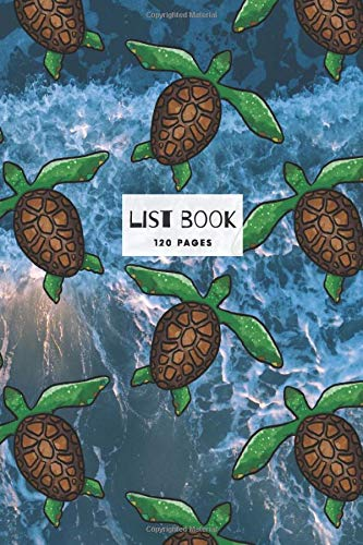 Sea Turtle Design List Book: 120 pages of ruled white paper with check boxes for writing up lists