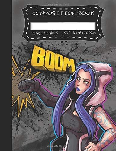 Composition Book: Maya Boom | Premium College Ruled Notebook | Vault Hunter Series | Fandom Cosplay Gamer Book