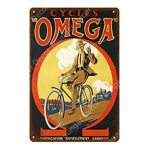 Cartel de chapa de Metal Vintage, uso de carrera de bicicletas para Bar, cafetería, decoración de pared para el hogar, cartel, placa de Metal 20x30cm 08