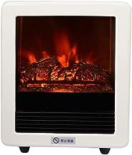 YLJYJ Estufa eléctrica calefacción Interior Estufa Independiente con Efecto de Llama Realista Sobrecalentamiento Protección de Seguridad - 31.5x18x37.5 CM (750 1500W)