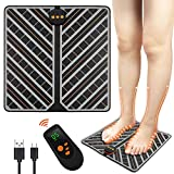 ABS Stimulator & EMS Electric Foot Massager Machine - Relieve Plantar Fasciitis, Stress, Heel, Arch Pain - The Original - Shiatsu Acupressure Relaxation