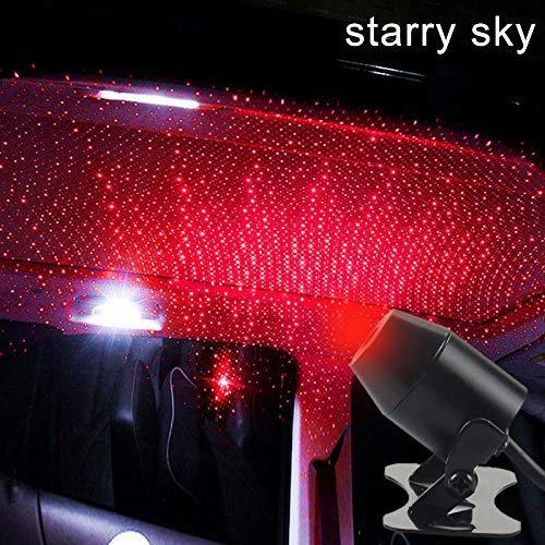 HELLOGIRL USB Car Roof Atmosphere Star Sky L/ámpara Luz de estrella ambiental Proyector LED Luz de noche p/úrpura Efectos de iluminaci/ón m/últiples ajustables