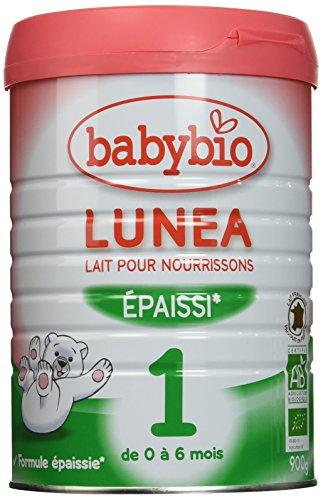 Babybio Lait pour Nourrissons BIO Lunea 1 Epaissi, 900g
