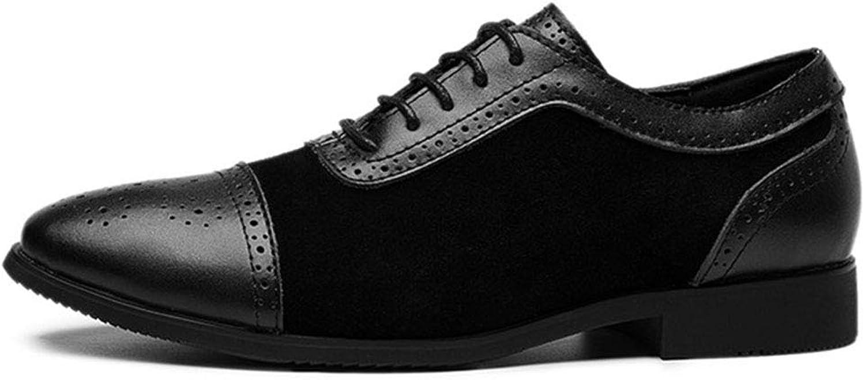 Men Brogue shoes Men Genuine Leather Dress shoes Business Formal shoes Size 38-46