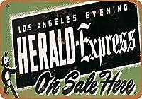 メタルサインロサンゼルスイブニングヘラルドエクスプレスレトロインテリアティンサインバー、カフェ、アート、家の壁の装飾