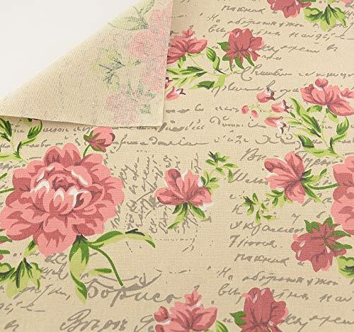 Stoff zum Nähen oder Polstern von Vintage-Blumen in...