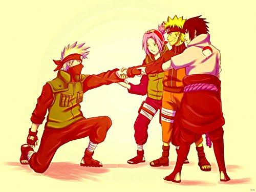 SV6109 Naruto Team 7 Sasuke Sakura Kakashi Anime Manga Art 24x18 Print Poster