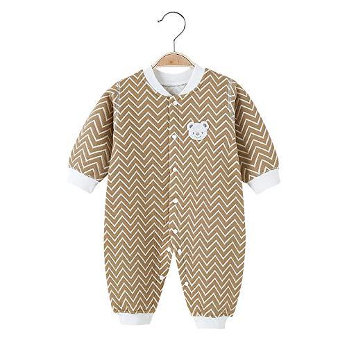 N\ A Bebé Mono Otoño e Invierno Bebé Acolchado Espesado Mameluco Mameluco Otoño e Invierno Ropa de Recién Nacido Pijamas
