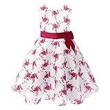 Freebily Vestido Elegante Blanco Boda Fiesta para Niña (2 a 14 Años) Vestido de Princesa para Dama de Honor Burgundy 9-10 años