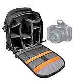 DURAGADGET Mochila Resistente con Compartimentos para Cámara Nikon D3300 Resistente Al Agua + Funda Impermeable Fotografiar Bajo La Lluvia!