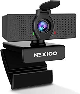 1080P Business Webcam with Microphone & Privacy Cover, 2020 NexiGo N60 USB HD Camera, 110-degree Wide Angle, Plug and Play...