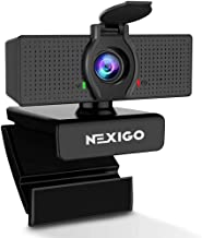 1080P Web Camera, HD Webcam with Microphone & Privacy Cover, 2021 NexiGo N60 USB Computer Camera, 110-degree Wide Angle, P...