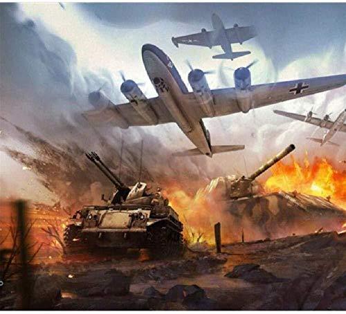 Puzzles Madera Rompecabezas Guerra De Tanques De Aviones De 1000 Piezas Muy Desafiante para Adultos Y Adolescentes Casual Tamaño Grande Rompecabezas