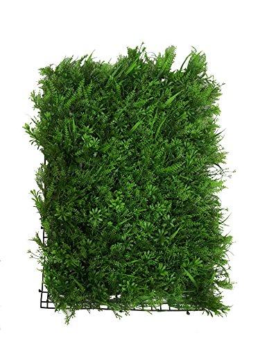 Plancha Alfombra de Césped Artificial 60 * 40cm Jardín Vertical Decoración Interior Pared Hierba (Vivid)