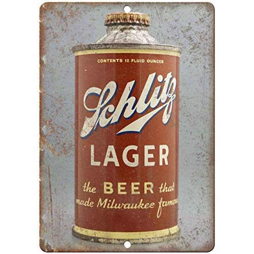 Diuangfoong Schlitz Lager Vintage Beer Can Reproduction Metal Sign