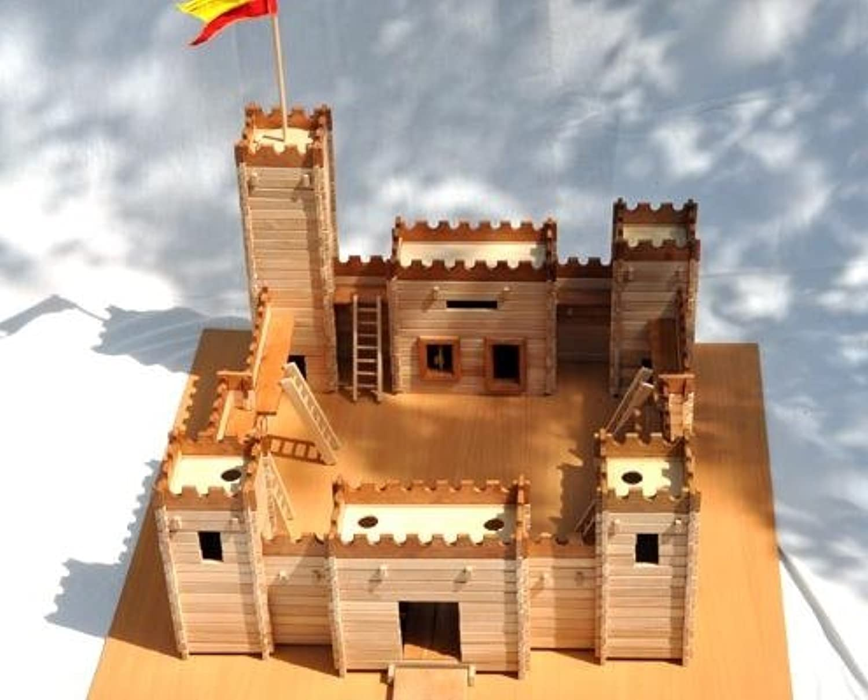 Burg zum Selbstbau Holz Spielzeug Massiv Festung selber Bauen Konstruktion Bausatz B06XF5Y9TJ  Am praktischsten      Up-to-date-styling