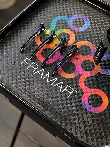 Framar Black Tight Tension Clips - Set of 4 Professional Hair Clips – Hair Clips for Styling, Clips for Hair, Metal hair Clips - Extra Tight & Durable
