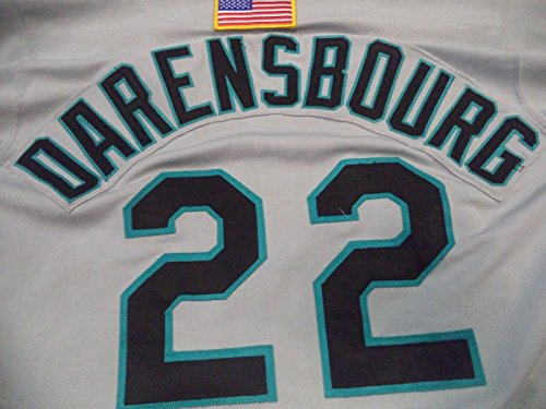 VIC DARENSBOURG FLORIDA MARLINS GAME USED RUSSELL JERSEY AUTHENTIC RARE