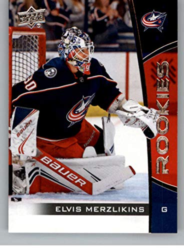 2019-20 Upper Deck NHL Rookie Box Set Hockey #16 Elvis Merzlikins Columbus Blue Jackets Official NHL Rookie Card From Upper Deck