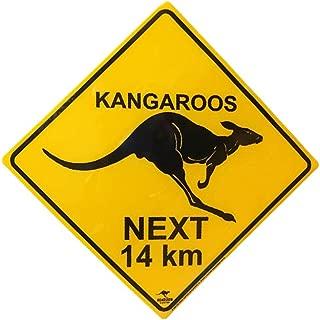 Australian Roadsign Kangaroos Crossing