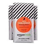 AmazonFresh Decaf Colombia Ground Coffee, Medium Roast, 12 Ounce (Pack of 3)