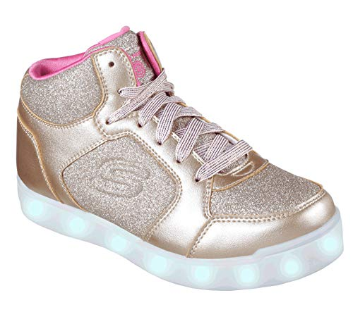 Skechers Mädchen Energy Lights: E-pro Glitter Glow Hohe Sneaker, Gold (Gold Gld), 38 EU