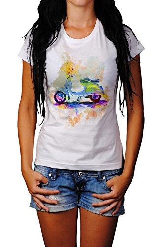 Vespa Damen T- Shirt, Stylisch aus Paul Sinus Aquarell Color