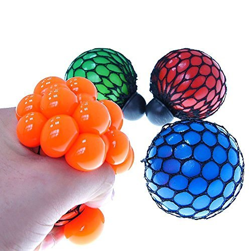 Metermall Home Metermall Home 1Pcs Soft Rubber Anti Stress Face Reliever Grape Ball Autism Mood Squeeze Relief Soothing Fidgets Healthy Funny Tricky Toy Funny Geek Gadget Vent Toy For Children and Adults Random Color