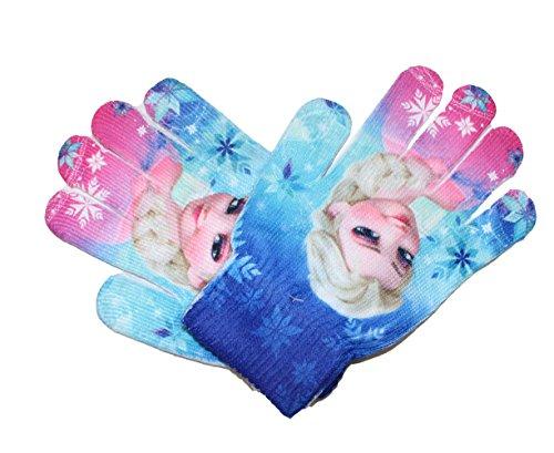 Disney Frozen - Guanti da bambini, taglia unica blu/rosa Taglia unica