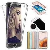 Sycode Coque Galaxy S6 Edge Plus,360 Degré Ultra Mince Transparente Avant et...