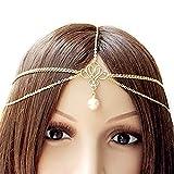 Fashband Headchain Copricapo di perle Boho Fascia Vintage ispirato Fantasy Crown Tiara Moda Accessorio per capelli Festival Gioielli per donne e ragazze