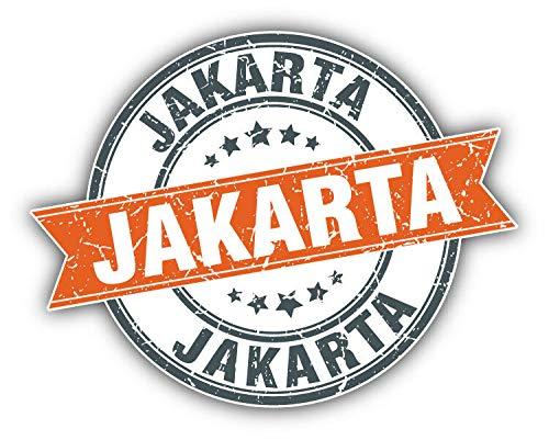 KW Vinyl Jakarta Grunge Rubber Travel Stamp Truck Car Window Bumper Sticker Decal 5