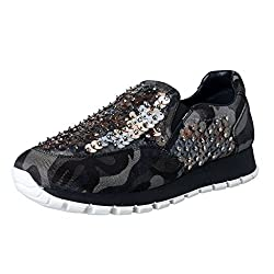 Multi-color Sequin Decorated Moccasins Loafers Slip On